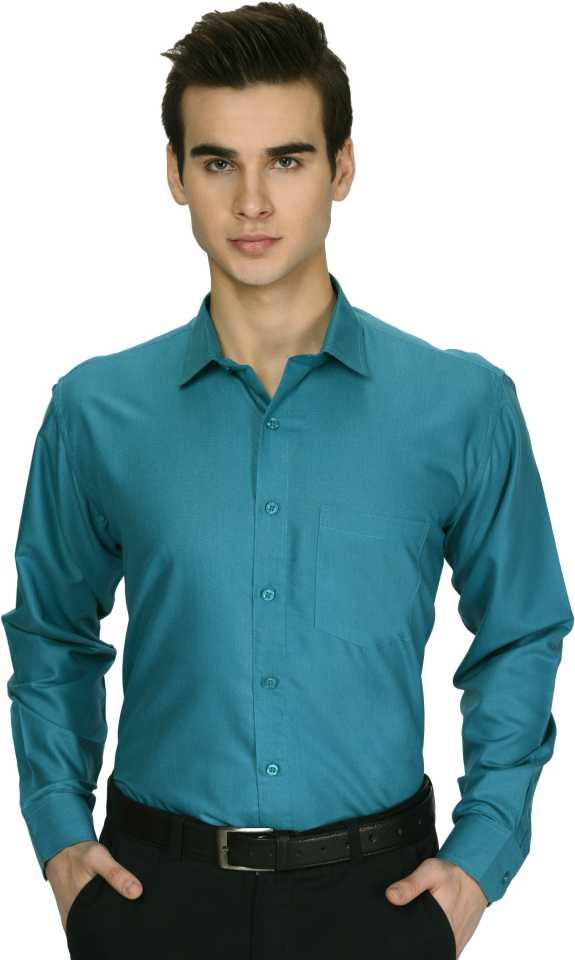 Men Self Design Formal Spread Shirt