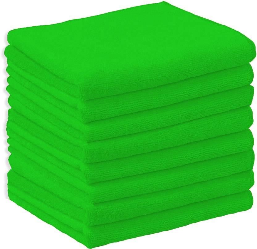 Microfiber Napkin P8G Green Napkins  (8 Sheets)